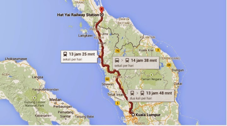 Travel by bus to Hatyai